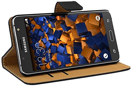 mumbi Tasche Bookstyle Hülle kompatibel mit Samsung Galaxy J5 2016 Hülle Handytasche Hülle Wallet, schwarz