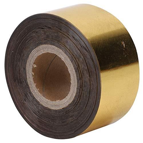 Hot Stamping Paper - Heißprägefolie Papier Leder Tuch Paket Geschenkbox Bronzing DIY Papier Dekoration Zubehör 3cm Breite 120 Meter/Rolle in acht Farben (Farbe : Gold)