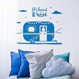 Vinilo Pegatina Caravana Vintage para Coches, caravanas, Jeep, autocaravanas, campistas Habitaciones Camping Tiendas Aire Libre 50 x 45 cm de CHPYHOME50