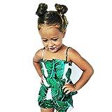 Morbuy Baby Mädchen Strampler Grünes Blatt, Spielanzug Kleidung Body MehrfarbigKinder 0-24 Monate (70cm/0-9Monate)