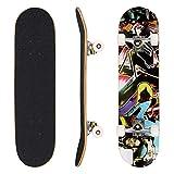 Hikole Skateboard tavola Completa 31 x 8 Pollici con Cuscinetti ABEC-7 Legno di Acero a 9...