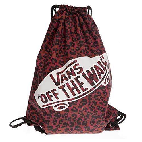 Vans Sacca Zaino 44 cm 12 litri Benched Bag Leopardato Rosso Nero Donna Shopper