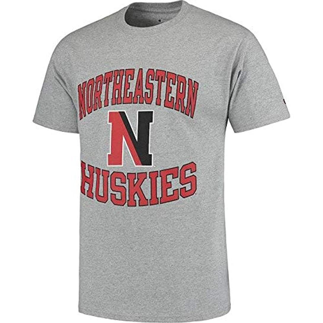 も暗唱する優雅なChampion Champion Northeastern Huskies Gray Tradition T-Shirt スポーツ用品 【並行輸入品】
