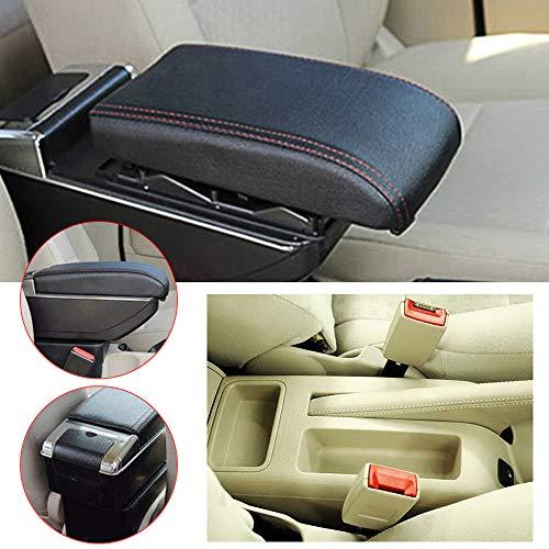 Muchkey Reposabrazos Coche para V olkswagen Bora Golf 4 Luz LED Incorporada para Consola Central Apoyabrazos Accesorios Interiores Negro