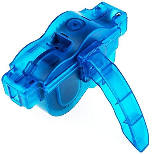 Fahrrad Ketten Reinigungsgerät Fahrrad Kettenreiniger | Werkzeug Reinigung Scrubber Fahrrad Kettenreinigung für Rennrad Mountainbike Citybike etc. | blau