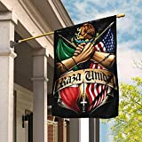 Flags-Mexican American Flag THN2179F, House Flag (29.5' x 39.5')-USA House Garden Flags Premium Polyester-Decorative Outdoor Flags