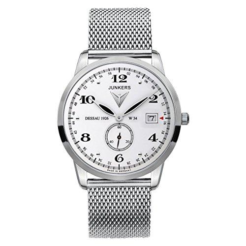 Junkers Herren Analog Quarz Uhr mit Edelstahl Armband 6334M1