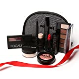 Makup Tool Kit 8 PCS Make up Cosmetics Including Eyeshadow Matte Lipstick with Makeup Bag Makeup Set for Gift FOCALLURE Brand
