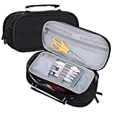 Large Pencil Case,Large Capacity,Portable Pencil Case,Portable, for Office,Stationery,Makeup Bag,School Supplies,Suitable for Middle School,College,Students,Girls, Boys,Teens,Storage,Organizer(black)