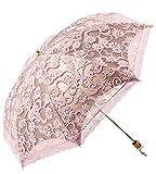 Honeystore Regenschirm, Automatik Taschenschirm Anti UV Regen/Sonne Spitze Regenschirm für Damen Rosa