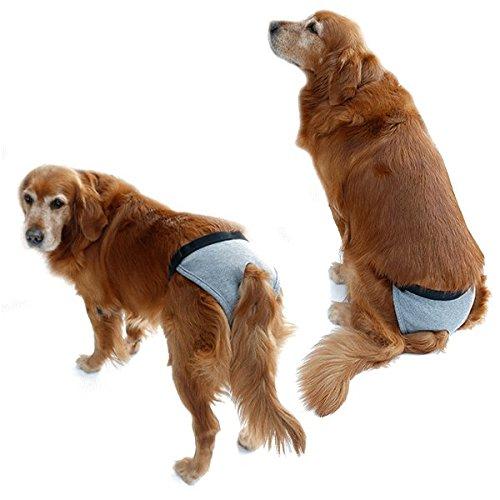 nikka(日華)犬用 サニタリーパンツ マナーパンツ 生理パンツ おむつカバー 女の子用 発情期用 メス 生理用 犬服 小型犬 中型犬 大型犬 まわしタイプ グレー XSサイズ