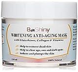 BeShiny PEAU LUMIÈRE Masque blanchissant. Utilisez-le comme correcteur de tache sombre pour éclaircir la peau sombre. Masque éclaircissant pour les jambes de corps de visage Éclaircissants de peau de