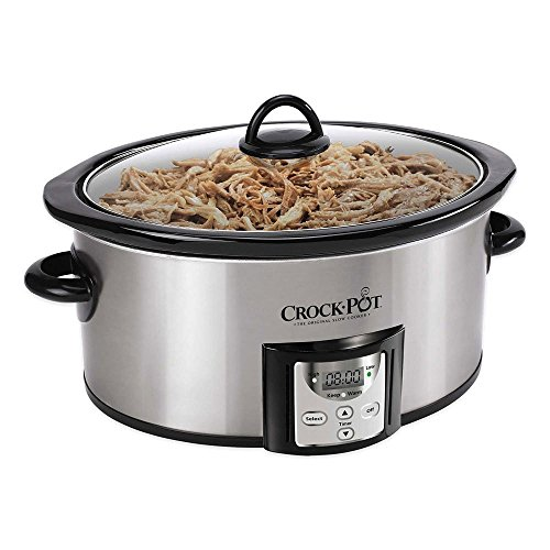 Crock-Pot 4 SCCPVC400S Quart Capacity Intelligent Count Down Timer Slow Cooker Small Kitchen Appliance, Stainless Steel