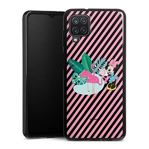 DeinDesign Silikon Hülle kompatibel mit Samsung Galaxy A12 Case schwarz Handyhülle Disney Offizielles Lizenzprodukt Mickey & Minnie Mouse