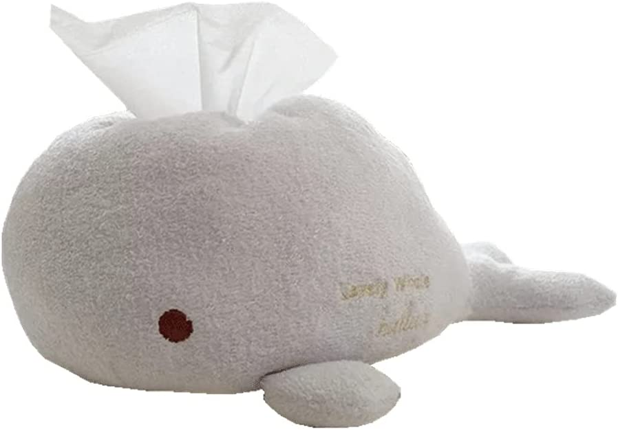 Cute Plush Luxury Whale Tissue Box White Max 55% OFF to Smooth Touch Hom Kawaii