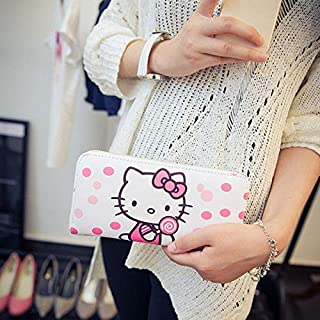 DingXiong Women Wallets Hello Kitty Bag Purse Leather Long Womens Coin Money Ladies Clutch Card Holder