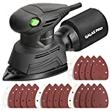 GALAX PRO Mouse Detail Sander, 1.1A Powerful Motor, 14000 OPM Compact Electirc Sander with 16Pcs Sandpapers and Dust Bag, Soft Grip Handle for Comfortable Woodworking