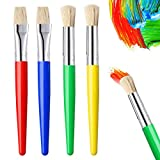<span class='highlight'><span class='highlight'>nuoshen</span></span> Kids Paint Brushes,4 Pcs Childrens Paint Brushes Set Round and Flat Bristle Tip Coloful Painting Sets for Children
