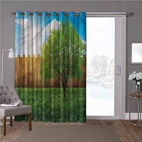 YUAZHOQI - Cortina divisora de habitación, campo de cultivo, 100 x 84 pulgadas de ancho (1 panel)
