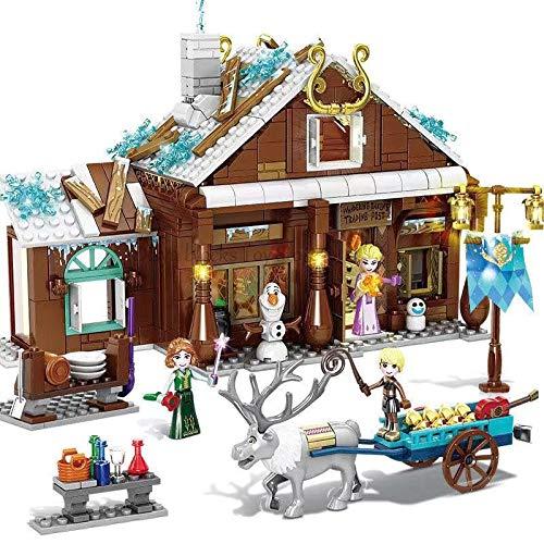 Rawikan Magic Ice Castle Girl Bloques de construcción de ladrillo juguete princesa castillo niña amiga (compatible con Lego)