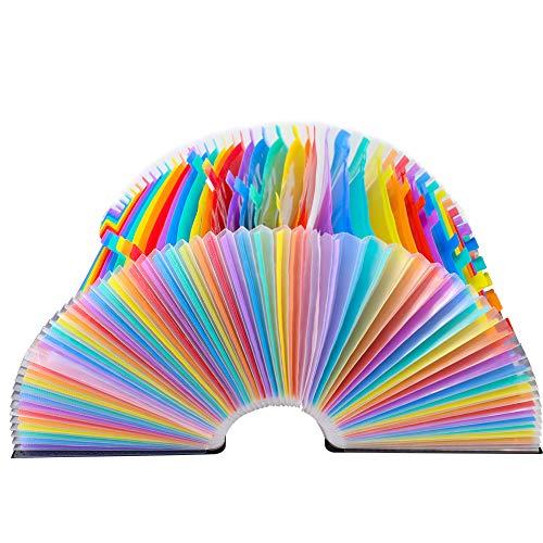 Accordian File Organizer, Expanding File Folder, 60 Pockets, Large Monthly/Weekly Expandable Plastic Accordian File Organize/Folder a-z, A4 Letter Size File Box, Portable Document Organizer Photo #7