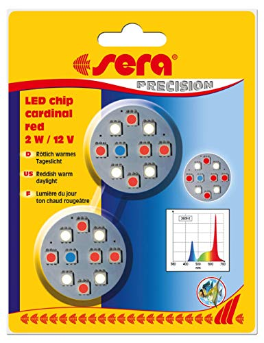 sera LED chip cardinal red 2 W / 12 V 2 St.