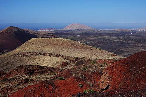 ZYDZYD Lanzarote españa Islas canarias Cielo Marino,30X40cm Kit de Pintura al óleo para Bricolaje Regalo para Adultos y niños