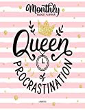 Queen Of Procrastination Undated Monthly Budget Planner: Large Annual Financial Budget Planner And Tracker With Inspirational Quotes (Household Budget Planner)