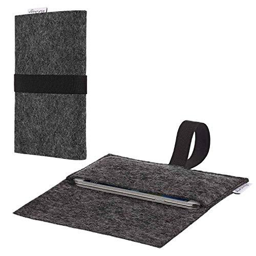 flat.design vegane Handy Hülle Aveiro für Shift Shift6m passexakte Filz Tasche Hülle Sleeve Made in Germany