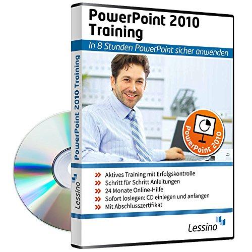 PowerPoint 2010 Training - In 8 Stunden PowerPoint sicher anwenden | Einsteiger und Auffrischer lernen mit diesem Kurs Schritt für Schritt die sichere Anwendung von PowerPoint [1 Nutzer-Lizenz]