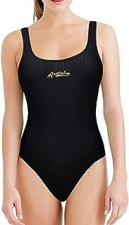 「シャオユウイ」水着, 女性のセクシーなソリッドカラー中空ストラップワンピース水着