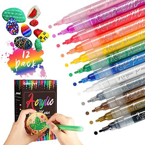 Gain-Art Rotuladores de Pintura Acrílica - 12 colores Marca