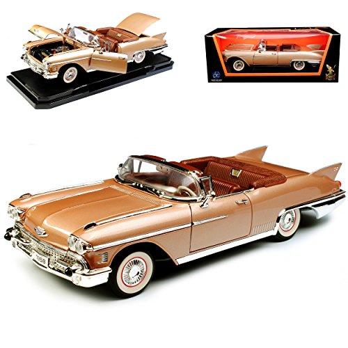Lucky Die Cast Cadilac Eldorado Biarritz Gold Braun 1957-1958 1/18 Yatming Modell Auto mit individiuellem Wunschkennzeichen