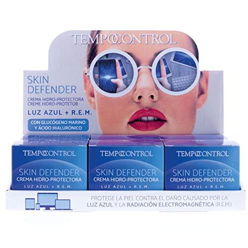 Tempocontrol Crema Hidro-Protectora Skin Defender, Luz Azul + R.E.M, 60Mililitros, Expositor de 6 Unidades, 360 Mililitros