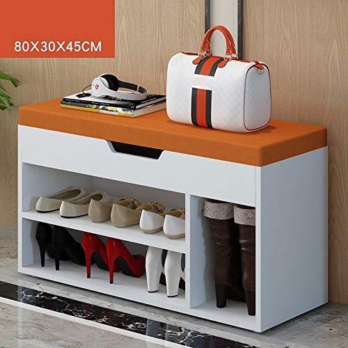 HHHGO Houten schoen met opslag, voor de salontafel, schoenenkast, tafelvoetenbank, woonkamer, multifunctioneel, modern schoenenrek, geschikt voor entryway