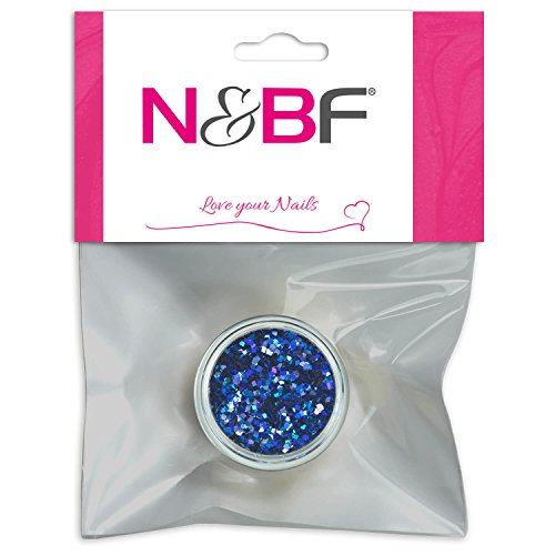 Nail Art Glitter Square pour Full Cover Model couches de Blue & individuelle Nail Art Design Motif