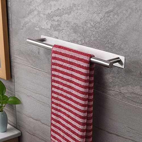 ZUNTO Handtuchhalter 40 cm Bad Handtuchstange Ohne Bohren Badetuchhalter Edelstahl Selbstklebend Handtuchregal