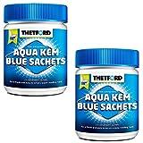 Thetford LOT 2 X Aqua KEM Blue SACHETS WC Chimique Entretien Caravane Toilettes Produit