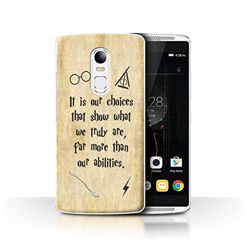 Hülle Für Lenovo Vibe X3 Schule der Magie Film Zitate Choices und Abilities Design Transparent Ultra Dünn Klar Hart Schutz Handyhülle Case