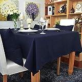 Epinki Tovaglia Colore Puro Semplice Blu Marino Tovaglia Cotone per Festa Tabella di Nozze Decorazione Vacanza Misura 60x60CM