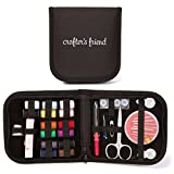 Mini Sewing Kit for Home, Travel & Emergency - Premium Sewing Supplies, Compact Storage Case, Extra White and Black Thread
