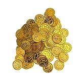 人工フェイクフード野菜玩具ゲームコイン海賊トレジャーコイン偽コイン宝くじコイン小道具海賊子供誕生日パーティー用品100個(宗派50)