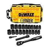 DEWALT Impact Socket Set, 23-Piece, 1/2' Drive Metric/SAE (DWMT74739)