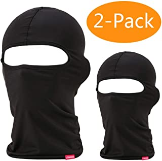 Balaclava Face Mask, 2 Pack Lightweight Motorcycle Black Warmer Ski Mask for Men Bandana