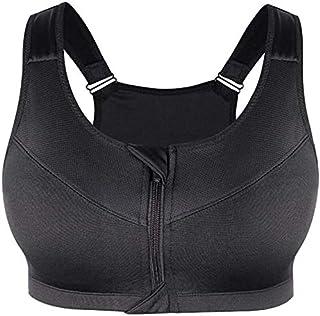 OneChange Large Size Women Zipper Sports Bra Underwear Running Shockproof Push-Gym Fitness Yoga Bh Sports Underwear Shirt ...