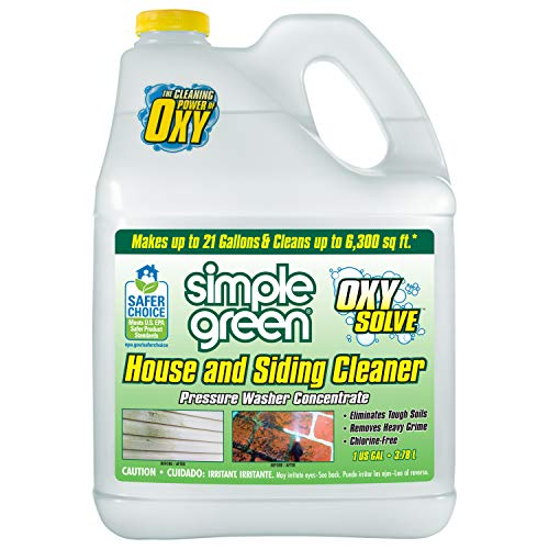 Oxy Solve House and Siding Pressure Washer Cleaner - Removes Stains from Mold & Mildew on Vinyl, Aluminum, Wood, Brick, Stucco - Concentrate 1 Gal.