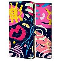 Xperia XZ3 ケース 手帳型 エクスペリア XZ3 カバー おしゃれ かわいい 耐衝撃 花柄 人気 純正 全機種対応 カラフルな模様-04 ファッション シンプル アニメ 9728210