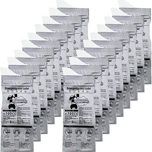 xiaocha 20枚 携帯トイレ 登山 簡易トイレ 災害 非常用トイレ 防災 車載トイレ 凝固剤 ポータブル 排尿バッグ 仮設トイレ キャンプき 蓄尿袋 携帯用・緊急ミニトイレ男女兼用 使い捨てトイレ