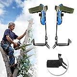 Cabina Home - Juego de pinchos para escalada de árboles (cinturón de seguridad ajustable, cuerda para colgar), 2 dientes.