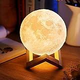 電光ホーム 間接照明 インテリア ライト 月のランプ ルームライト おしゃれ あかり 卓上 LED 調光 充電 (直径8cm)